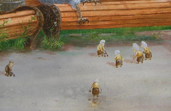 """Detailansicht aus dem Bild """"Gute alte Tage"""" von Gennadi Isaak"""