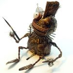 Kleine Skulptur aus Metall- und Elektroteilen von Gennadi Isaak