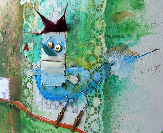 Malerei Bluebird - Detail