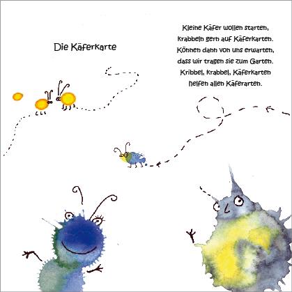 """Kunstpostkarte """"Käferkarte"""" von Gennadi Isaak und Erwin Grosche"""