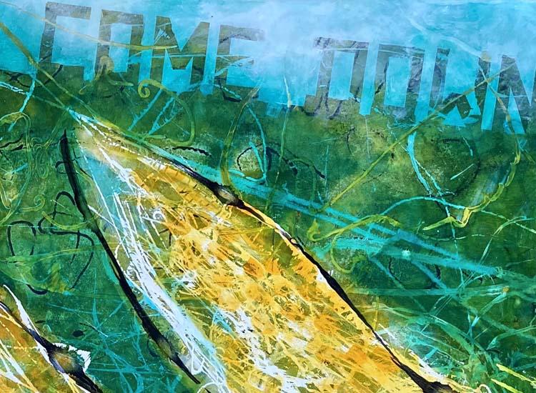 """Detail aus Bild """"COME DOWN"""" von Gennadi Isaak"""