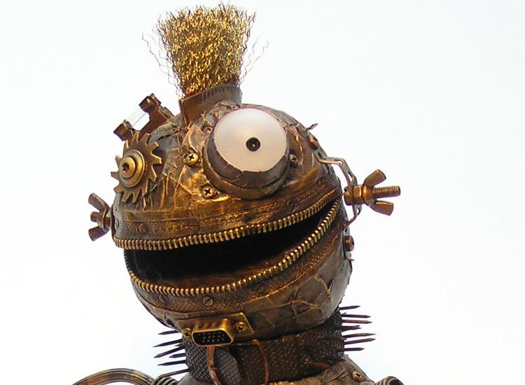 Kopfansicht der Skulptur Fjodor von Gennadi Isaak
