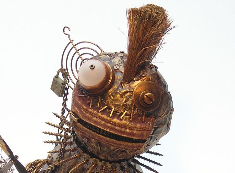 Kopfansicht der Skulptur Sancho von Gennadi Isaak
