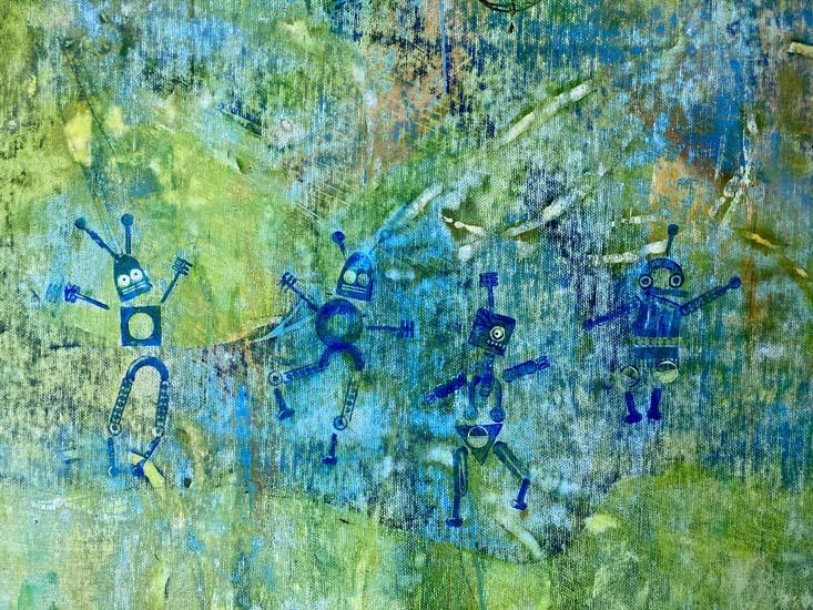"""Detail aus dem Bild """"Ankunft der Ersatzteile"""" von Gennadi Isaak"""